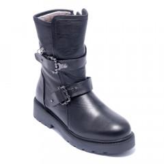 Ботинки женские Welfare 0445-201985 KRK 01 BLACK LEATHER