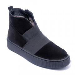 Ботинки женские Welfare 0470-34.02 KRK 136 BLACK NUBUCK
