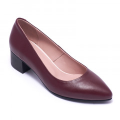 Туфли женские Welfare 0431-2278D BURGUNDY LEATHER