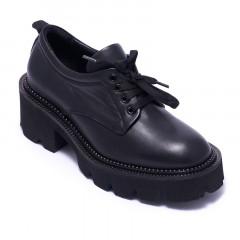 Туфли женские Welfare 0443-2339 03 BLACK LEATHER
