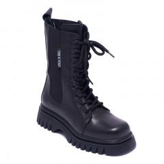 Ботинки женские Welfare 0737-2606D 35 BLACK LEATHER