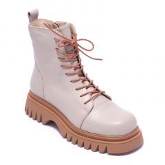 Ботинки женские Welfare 0737-2609D 634 BEIGE LEATHER