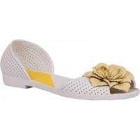 Балетки женские Valex 5002 бел /желт цветок ВЛ2016