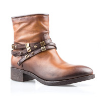 Ботинки женские YKX 593208 SADDLE/MOGANO