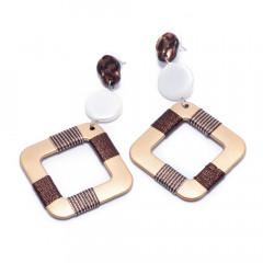 Сережки жіночі Welfare HC12709 brown